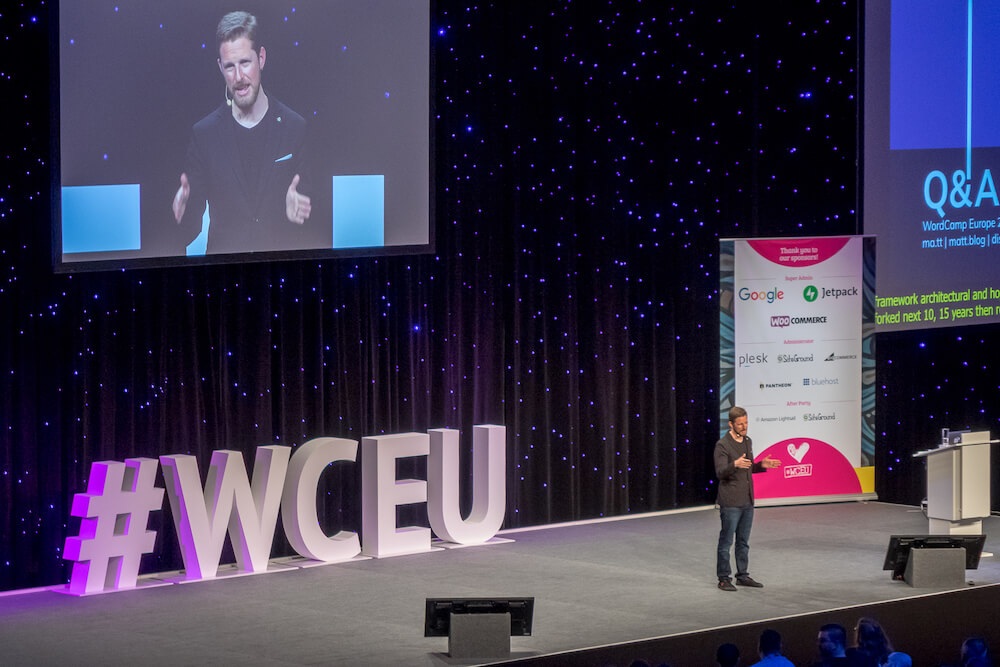matt mullenweg at wceu berlin 2019